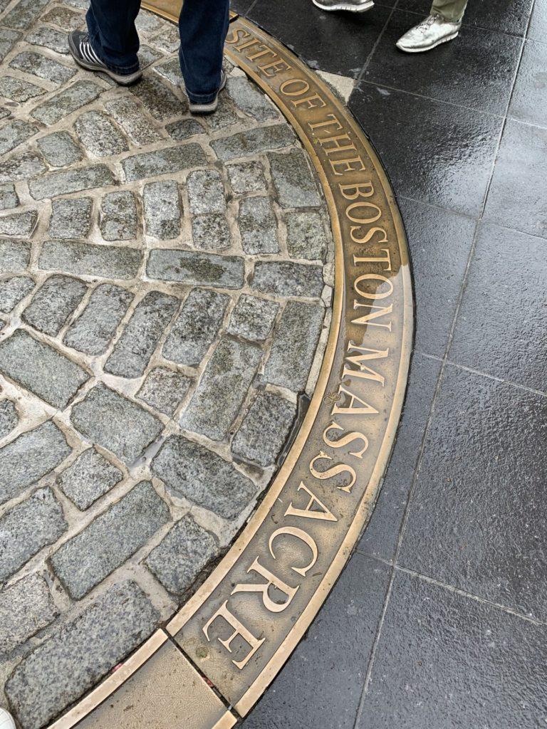 フリーダムトレイル ボストン虐殺地跡