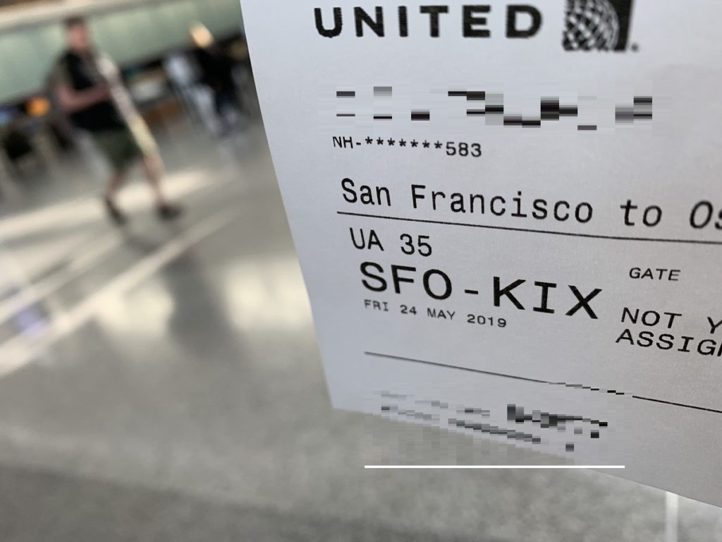 UA35 SFO-KIX