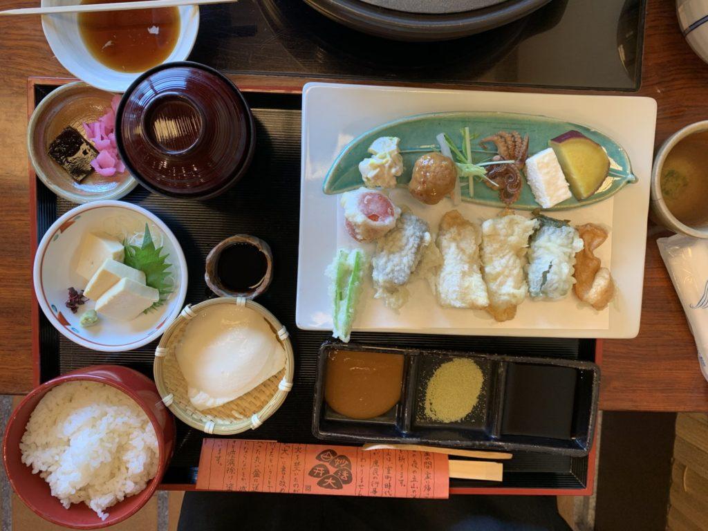 おかべ家 生麩の天ぷら膳