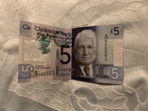クライズデール銀行 紙幣