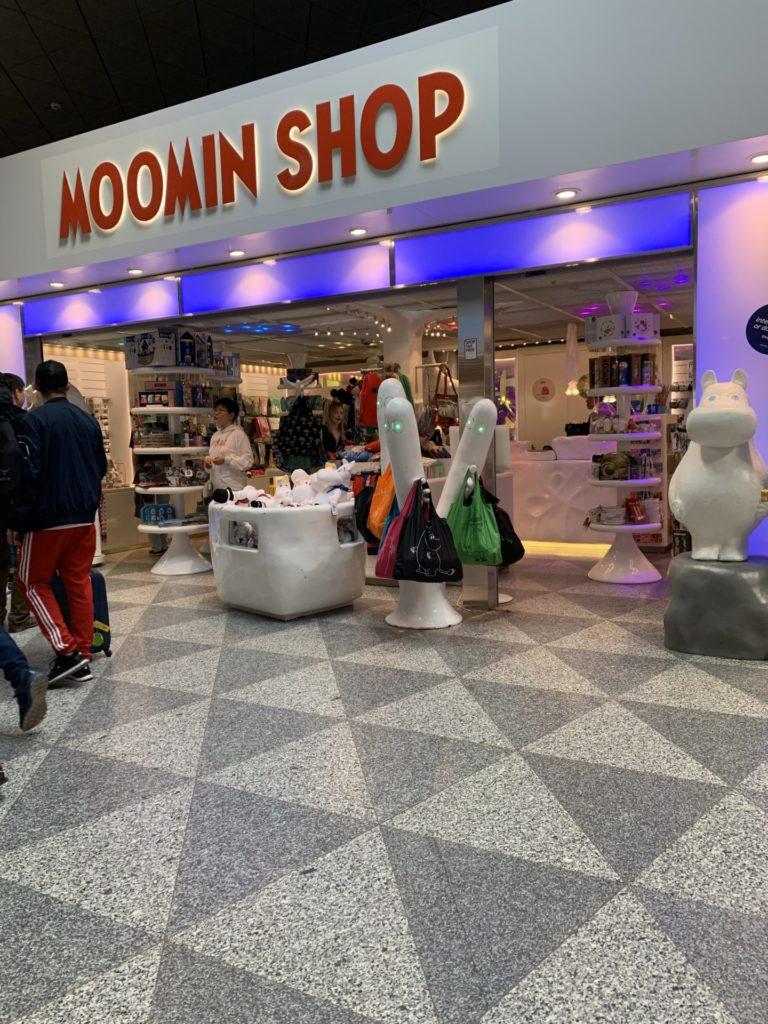 ヴァンター空港のムーミンショップ