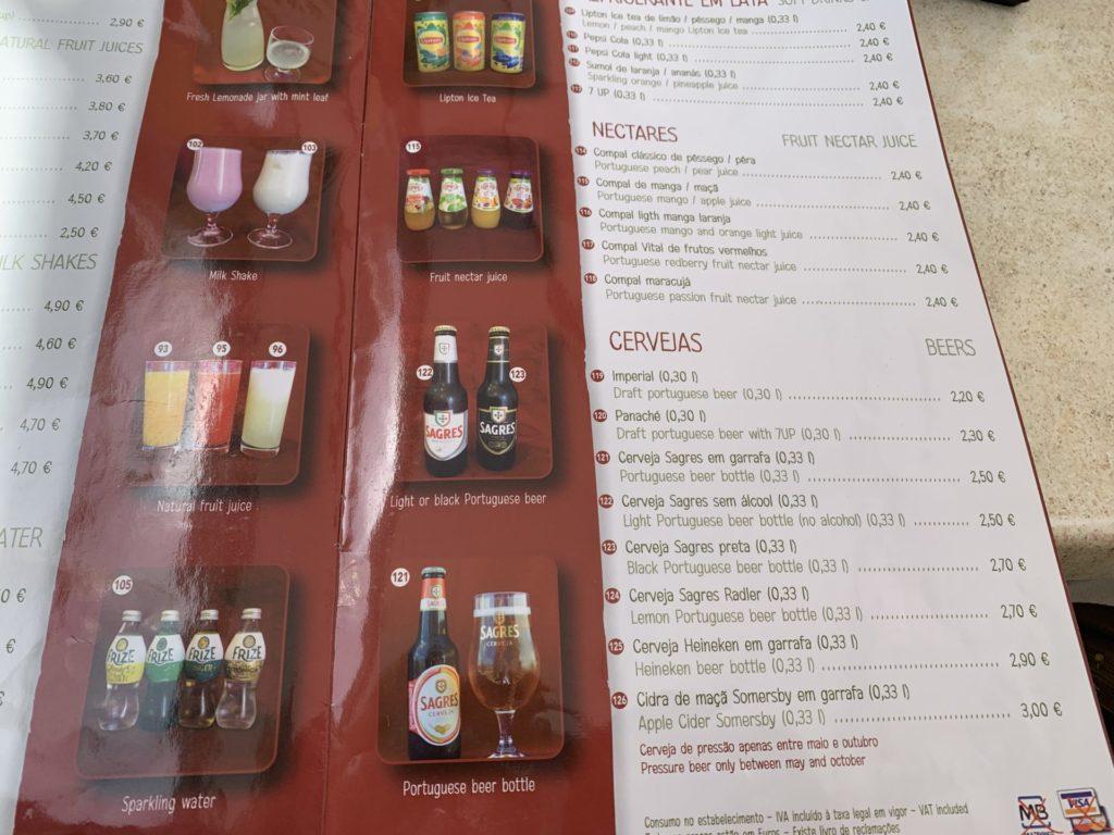 Café do Forte Menu