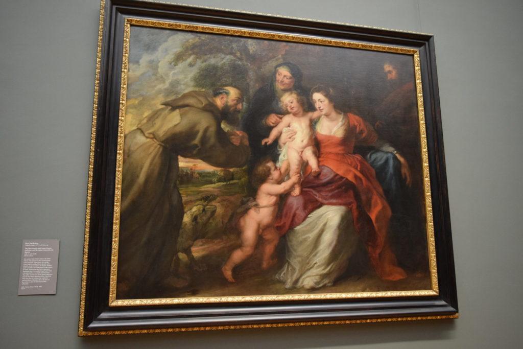 ルーベンス 聖家族と聖フランシス・アンと息子ヨハネ メトロポリタン美術館