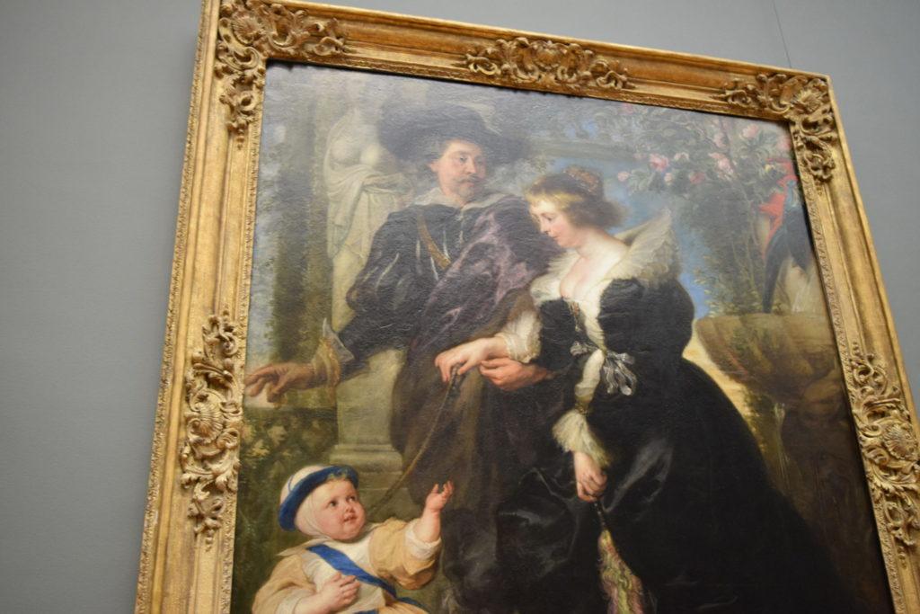 ルーベンス ルーベンスと妻エレーヌ・フールマンと息子