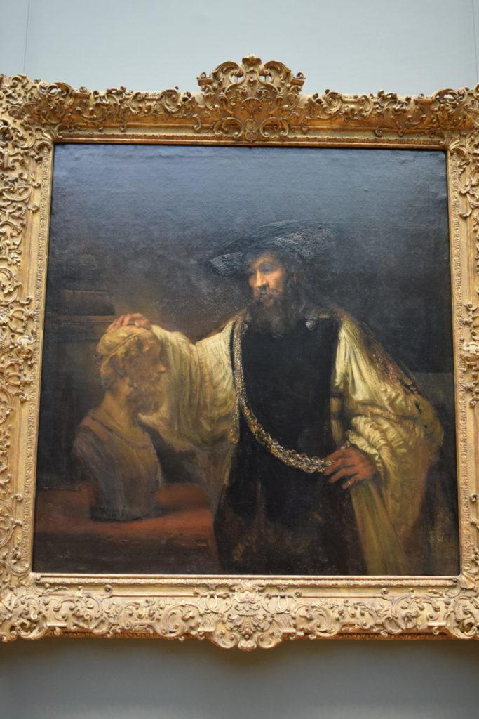 レンブラント ホメロスの胸像を見つめるアリストテレス メトロポリタン美術館