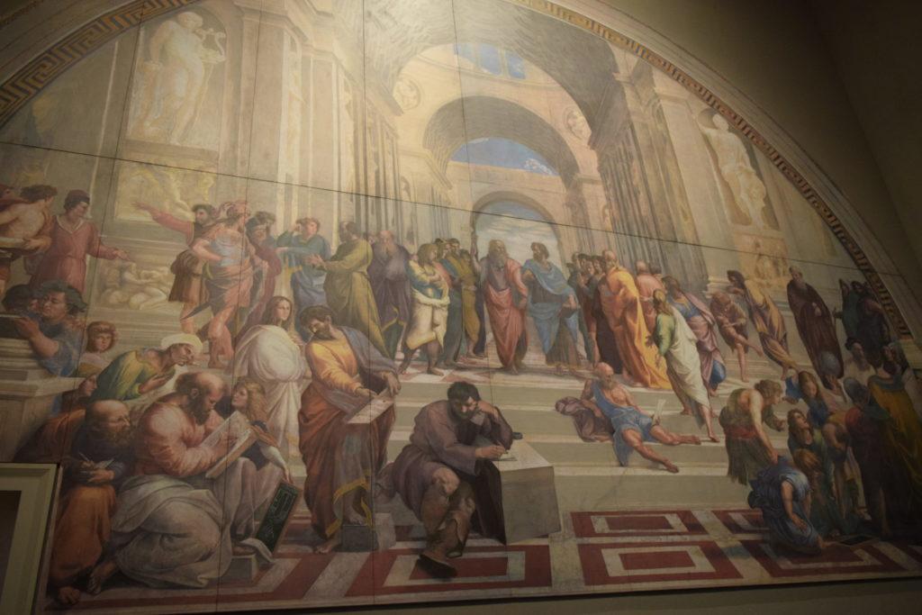 ラファエロのスタンツェ アテナイの学堂